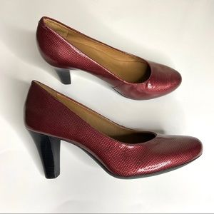Nurture Marjorrie Patent Leather Pumps Red 9